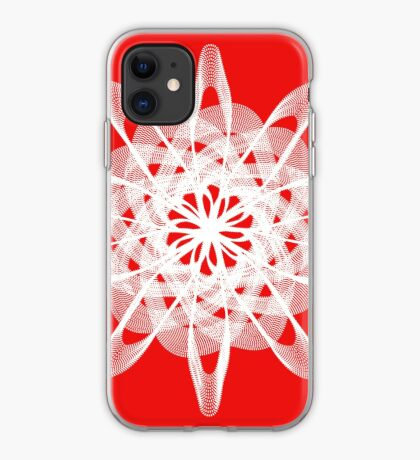 Spirograph with white iPhone Case