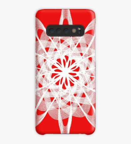 Spirograph with white Case/Skin for Samsung Galaxy