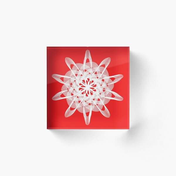 Spirograph with white Acrylic Block