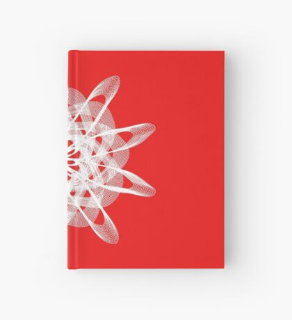 Spirograph with white Hardcover Journal