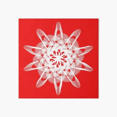 Spirograph with white Art Board Print