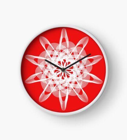 Spirograph with white Clock