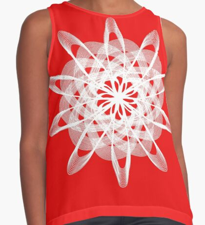 Spirograph with white Sleeveless Top