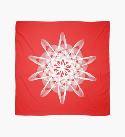 Spirograph with white Scarf