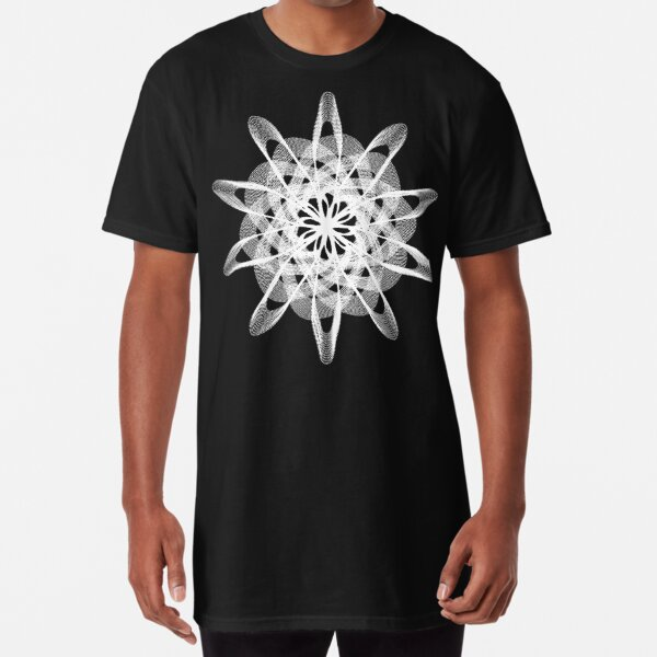 Spirograph with white Long T-Shirt