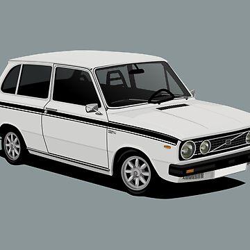 V 66 Combi - illustration - white by knappidesign