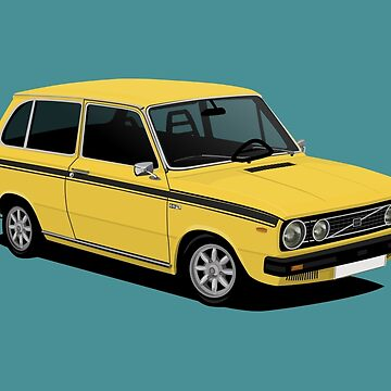 V 66 Combi - illustration - yellow by knappidesign