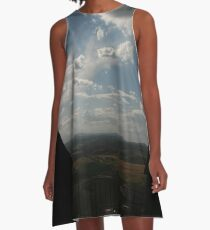 2 battlements and a landscape A-Line Dress
