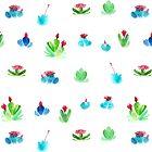 Flowering Succulents by Danelle Malan
