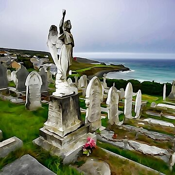 """The Angel of Barnoon Cemetery""- St Ives. by rennaisance"