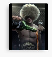 Khabib Nurmagomedov Epic UFC Conor Mcgregor Proper 12 Whiskey Canvas Print