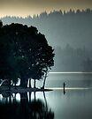 Loch Ard Fisherman by David Mould