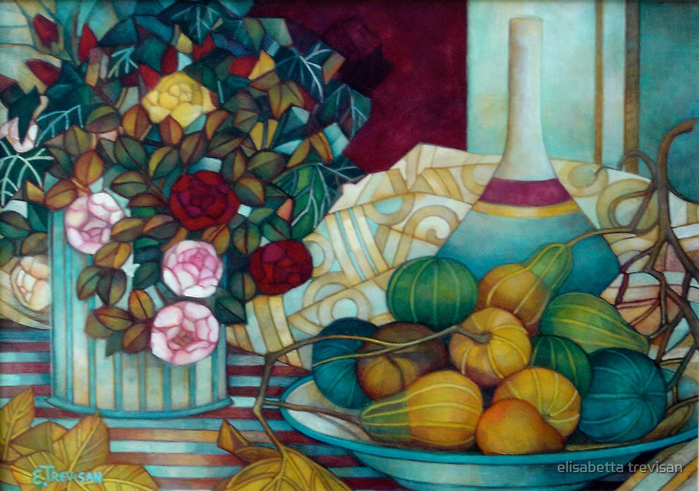 still life with pumpkins by elisabetta trevisan