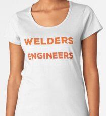 Welders Engineers Heroes Funny Welding T-shirt Women's Premium T-Shirt