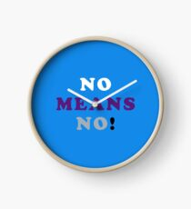 ASEXUALITY NO MEANS NO! ASEXUAL T-SHIRT Clock