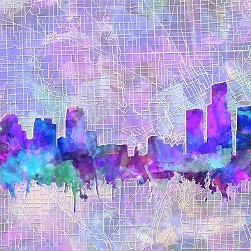 detroit skyline by BekimART
