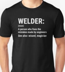 Funny Welder Definition Mistakes Engineers T-shirt Unisex T-Shirt