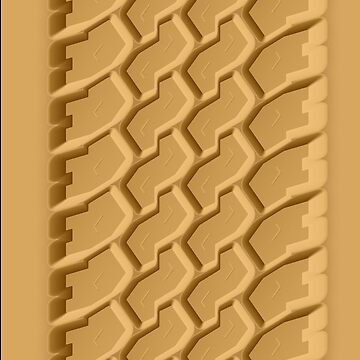 Beach Sand Car Tire Track iPhone Case by CroDesign