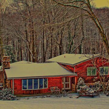 Winter Cabin by vadim19