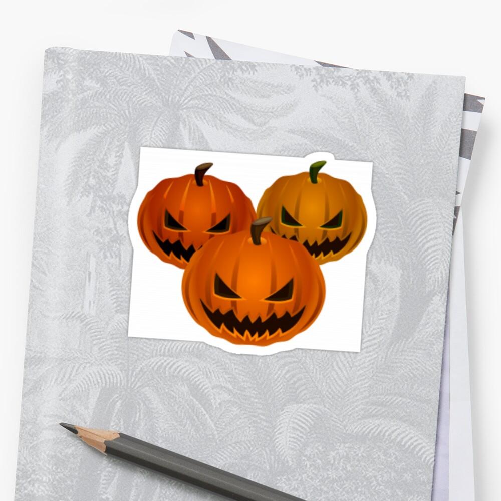 #halloween #pumpkin #orange #autumn #holiday #isolated #lantern #october #evil #face #white #jackolantern #horror #scary #jack #decoration #spooky #3d #vegetable #illustration Sticker