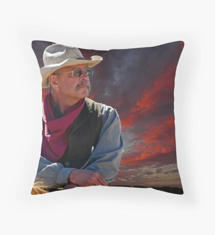 End of a hard day Throw Pillow