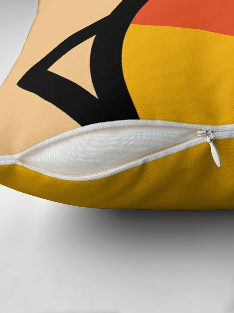 Alternate view of Creepy Egg Candy Corn - Halloween Throw Pillow