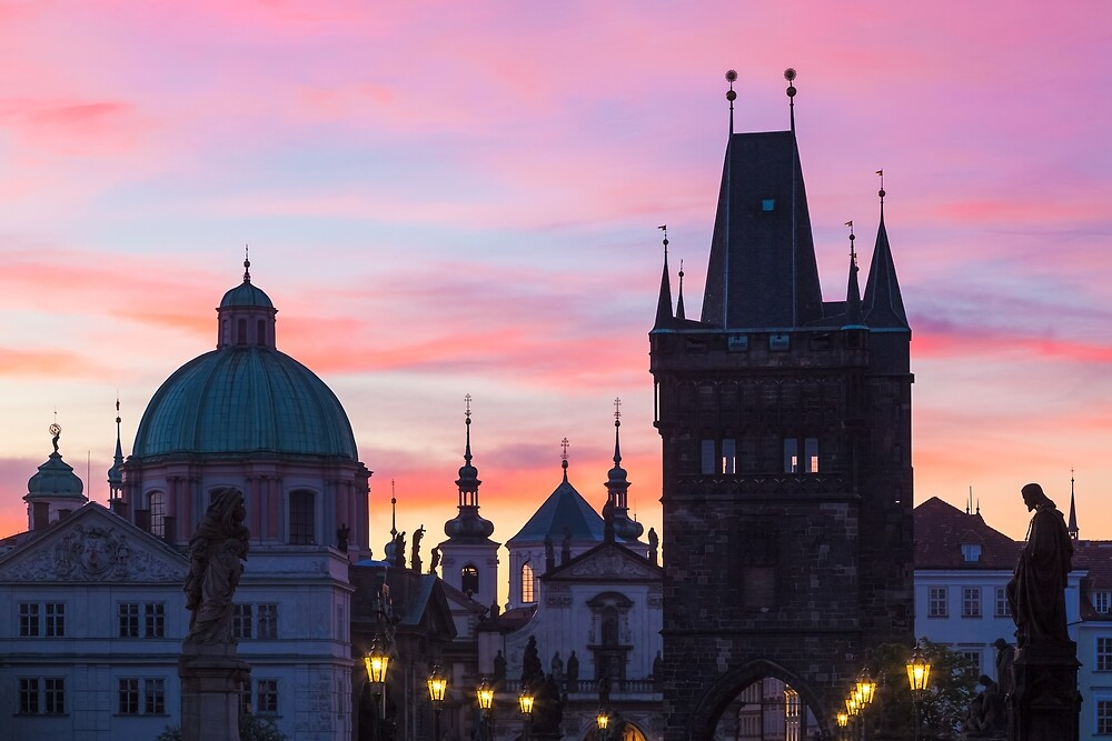 Prague 012 - Sunrise on Charles Bridge by seeczechia