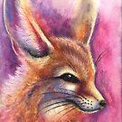 Fleeting: Fuschia (Fennec Fox) by NoelleMBrooks