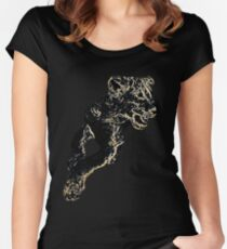 African Lion Cub - Young Lion Women's Fitted Scoop T-Shirt
