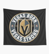 Vegas Golden Knights (Vegas Born, Vegas Strong Circle Badge) Wall Tapestry