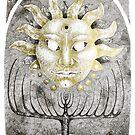 Tarot: The Sun - ink illustration  by Donata Zawadzka