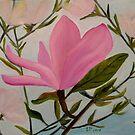 Pink Magnolia Flowers  by ElenaFineArt
