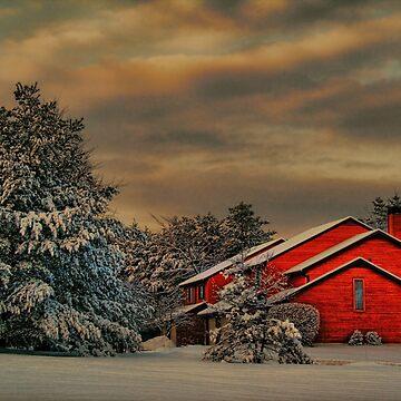 Winter. Snow. Cabin. by vadim19