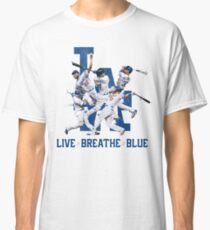 Dodgers Live Breathe Blue Fan Art Shirt & Merch Classic T-Shirt