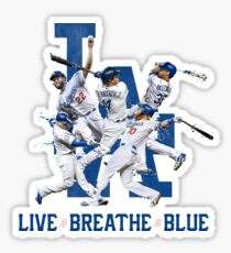 Dodgers Live Breathe Blue Fan Art Shirt & Merch Sticker