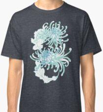 Chrysanthemum Infinity - Green and Blue Classic T-Shirt