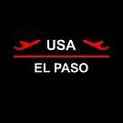 El Paso USA Airport Plane Dark Color by TinyStarAmerica