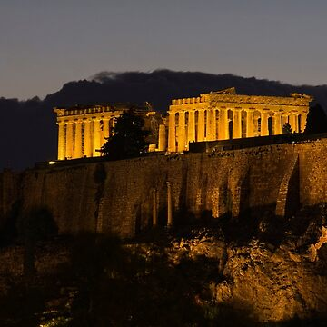 The Acropolis At Night by GVAZDesigns