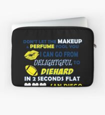 Don't let the makeup and perfume fool you I can go from delightful to diehard Laptop Sleeve