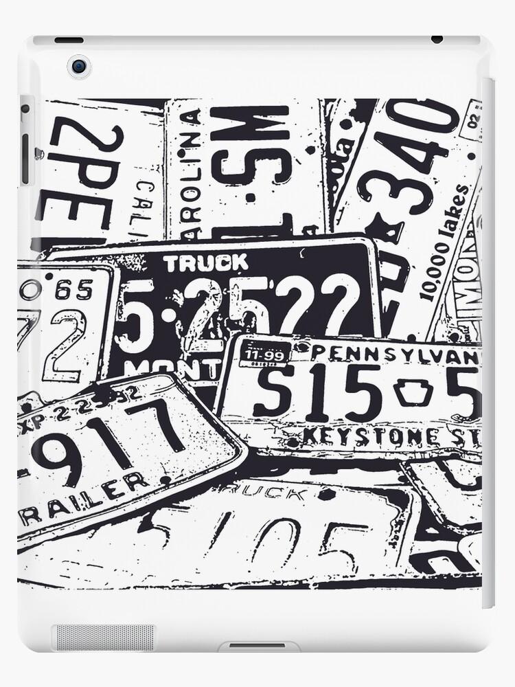 License Plates Black & White by tvlgoddess