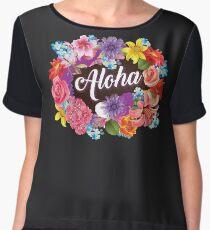 Aloha Art | Cool The Happiest Luau Aloha Design Gift Chiffon Top