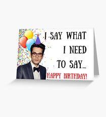 John Mayer Geburtstagskarte, Aufkleber, Geschenke Grußkarte