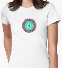 Hamsa Symbol Mandala Women's Fitted T-Shirt