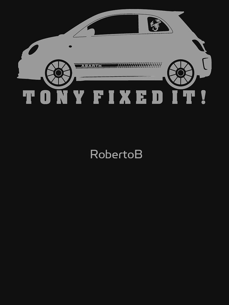 Tony Fixed It! grey print by RobertoB
