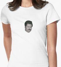 Ron Swanson Tailliertes T-Shirt für Frauen