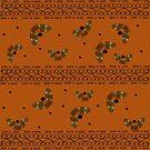 Desert Butterflies Burnt Sienna Background  by GrimalkinStudio