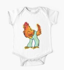 Chicken in Trousers Short Sleeve Baby One-Piece