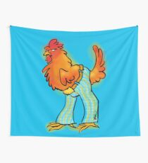 Chicken in Trousers Wall Tapestry