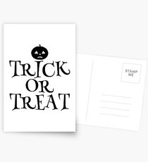 Pumpkin Trick or Treat  Postcards