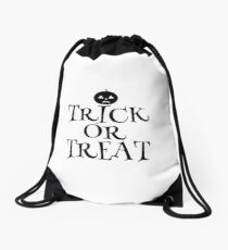 Pumpkin Trick or Treat  Drawstring Bag